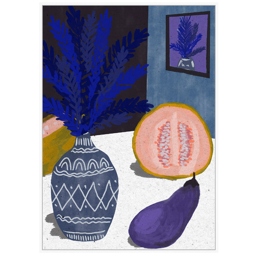 Sunday Homewares Navy Still Life I Framed Canvas Wall Art