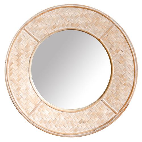 Sunday Homewares Nova Rattan Wall Mirror