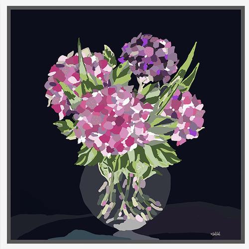 Sunday Homewares Artist Lab Glass Vase Framed Canvas Wall Art