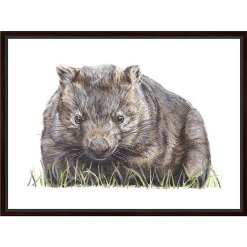 Sunday Homewares Artist Lab Wombat Framed Canvas Wall Art