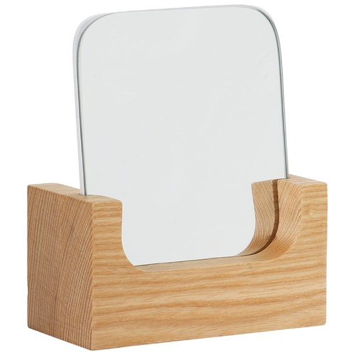 Oak And Ash Square Vanity Mirror & Stand