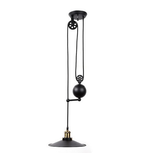 Vintage Style Pulley 1 Light Pendant