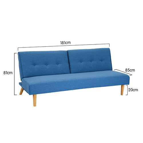 KHome Collection 3 Seater Futon Sofa Bed