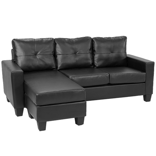 Outstanding Faux Leather Modular Corner Sofa Ncnpc Chair Design For Home Ncnpcorg