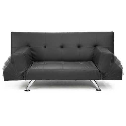KHome Collection Brooklyn Faux Leather 3 Seater Sofa Bed