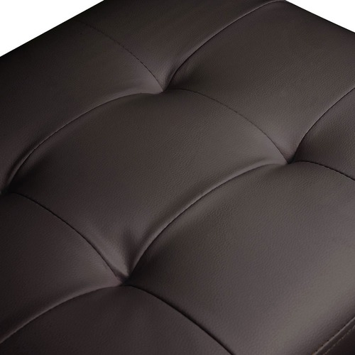 KHome Collection Large Faux Leather Storage Box Ottoman