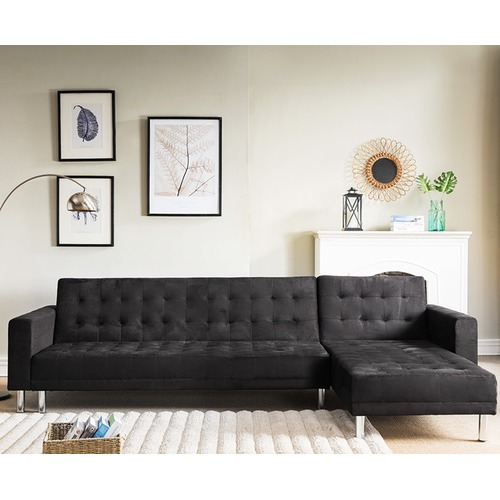 KHome Collection Suede Corner Sofa Bed