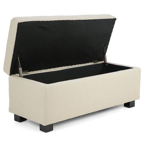 KHome Collection Large Fabric Storage Box Ottoman