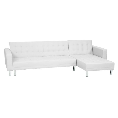 KHome Collection Faux Leather Corner Sofa Bed