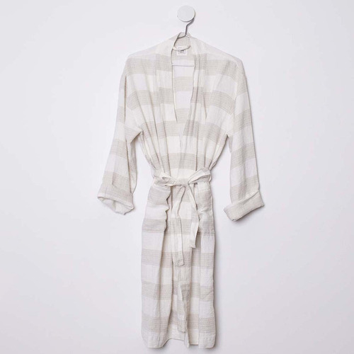 In the Sac Ivory & Natural Linen Poolside Robe