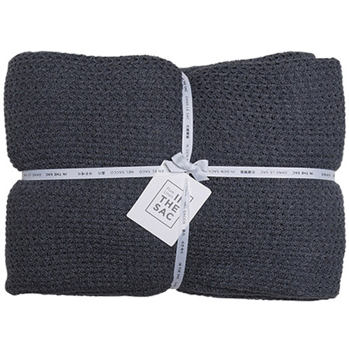 In the Sac Linen & Cotton Knitted Throw