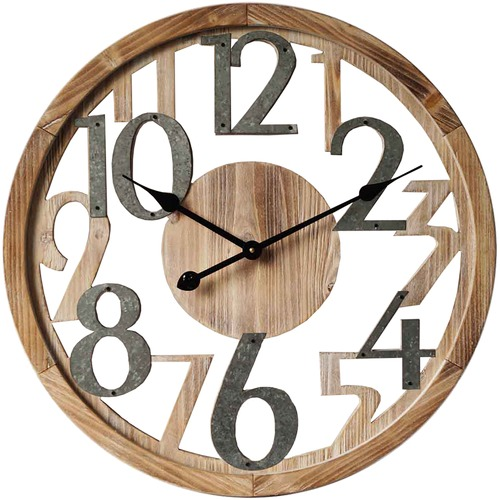 High ST. 60cm Industrial Floating Wall Clock