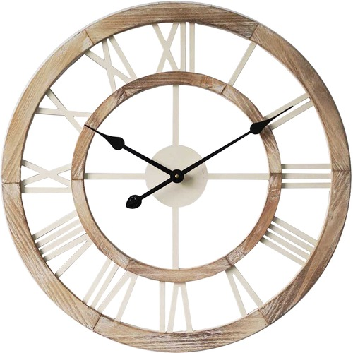 High ST. 60cm Hamptons Floating Wall Clock