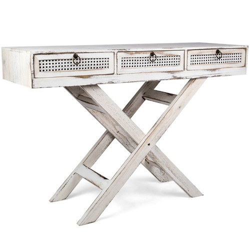 High ST. Lorette French Chic 3 Drawer Console Table