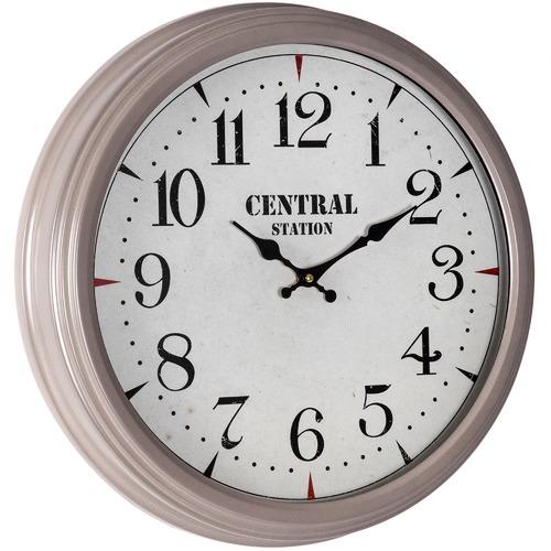 High ST. 46cm Off White Framed Central Station Wall Clock
