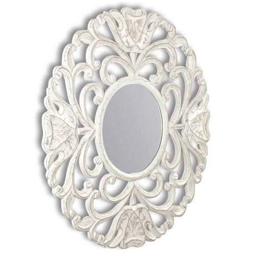 High ST. White Circolo Wall Mirror