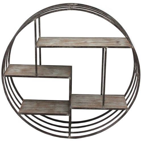 High ST. Round Elemental Hanging Wall Shelf