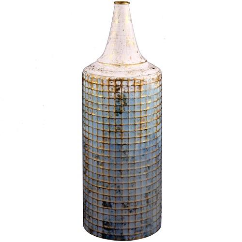 High ST. Blue & White Lustre Vase