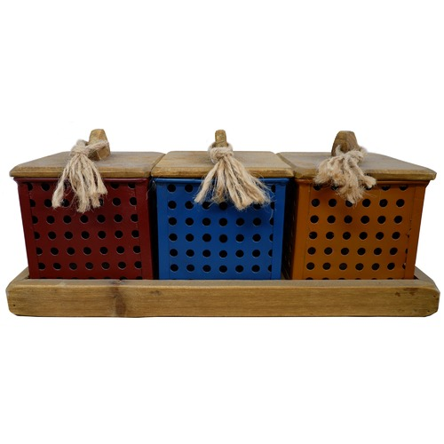 High ST. Emporium Tricolour Boxes on Tray