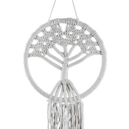 High ST. Round Tree of Life Macrame Wall Hanging