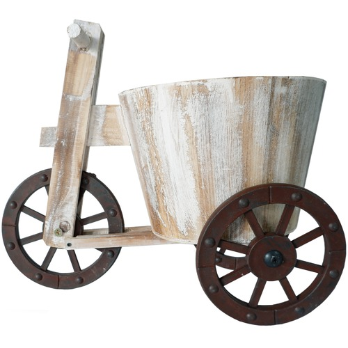 High ST. Wooden Tricycle Planter