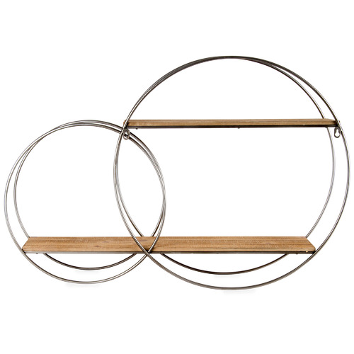 High ST. Round Elemental Floating Wall Shelves