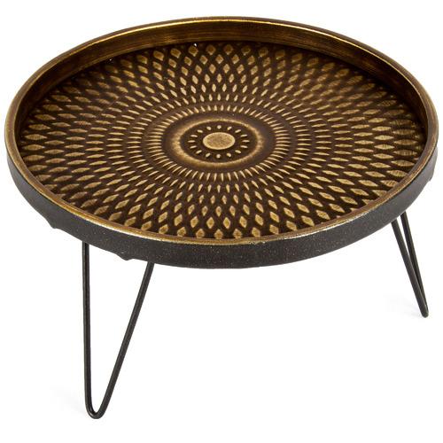 High ST. 3 Piece Lustre Stepped Iron Platter Set