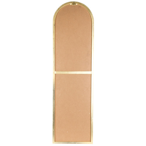 High ST. Gold Slimline Arched Metal Wall Mirror