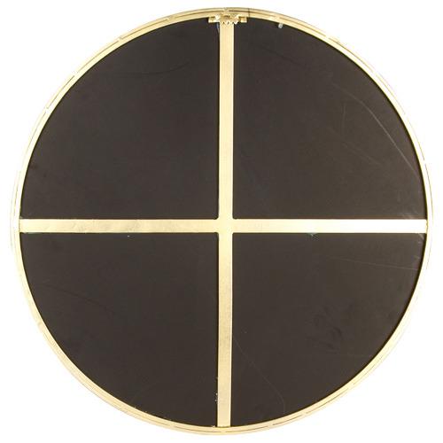High ST. Gold Slimline Round Metal Wall Mirror