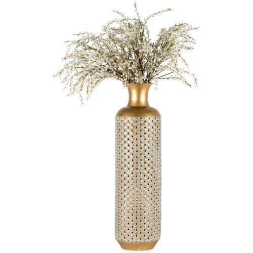 High ST. Extra Large Vector Lustre Metal Vase