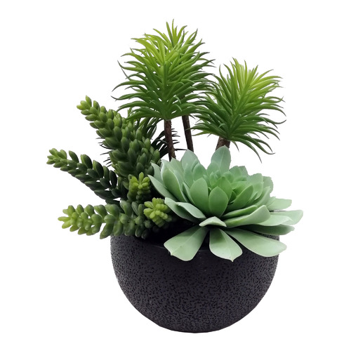 High ST. 26cm Large Potted Faux Mixed Succulents