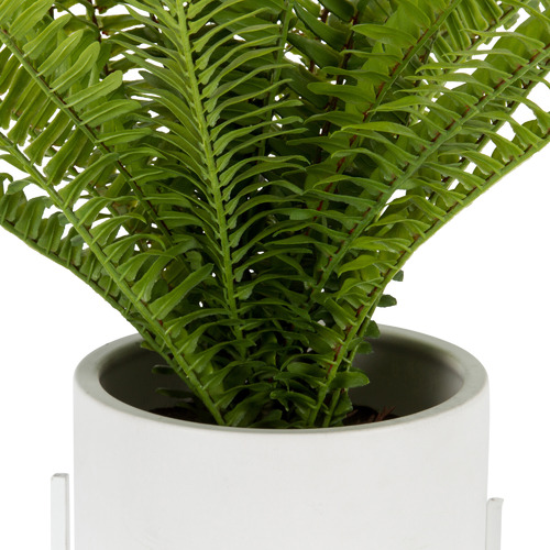 High ST. 56cm Potted Faux Fern in Plant Stand