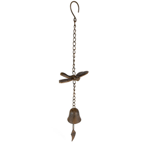 High ST. Distressed Dragonfly & Bell Metal Wind Chime