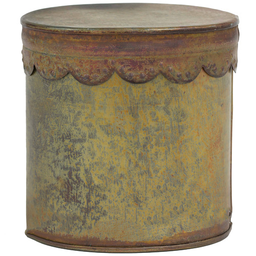 High ST. Antique Copper Metal Storage Box