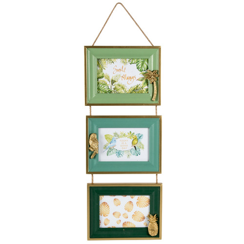 "High ST. Green Triple 5 x 3"" Hanging Photo Frames"