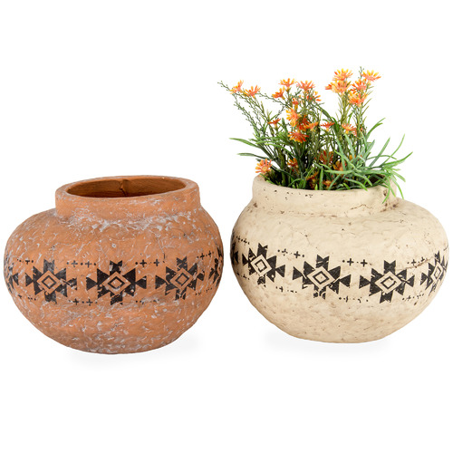 High ST. 2 Piece Aztec Bulb Planter Set