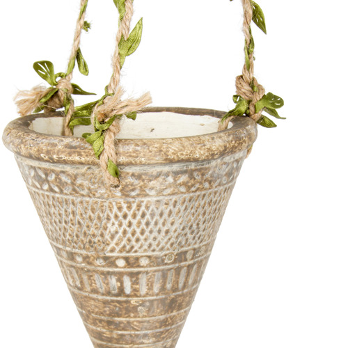High ST. 2 Piece Earth Cone Hanging Planter Set