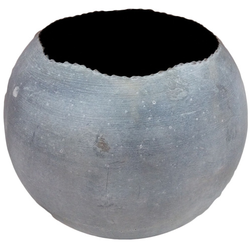 High ST. Distressed Grey Basque Metal Planter