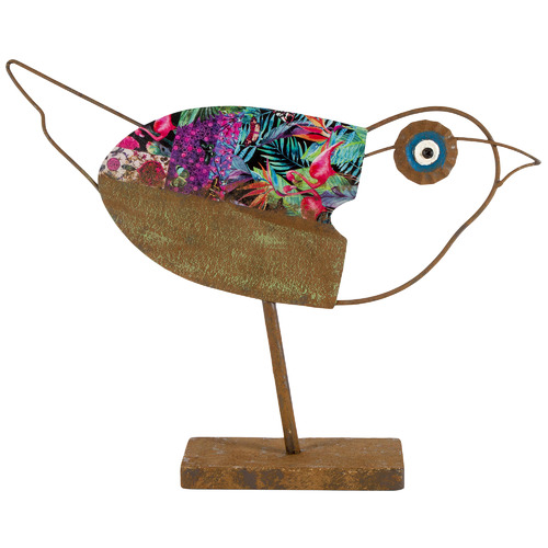 High ST. Nature's Art Pecking Bird Metal Ornament