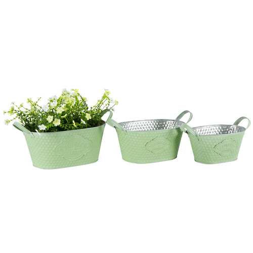 High ST. 3 Piece Oval Flower Shop Planter Set