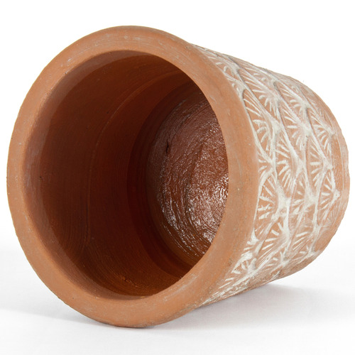 High ST. 3 Piece Brushed Terracotta Pot Planter Set
