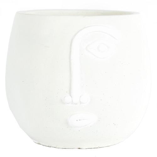 High ST. Small White Pablo Cement Pot Planter