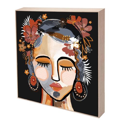 Ochre Isla Boxed Canvas Wall Art