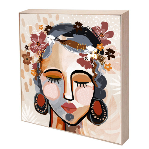Iconiko Ocher Lia Framed Canvas Wall Art