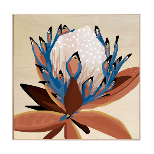 Cyprus Protea Boxed Canvas Wall Art
