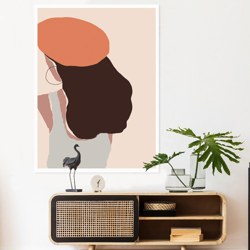 Iconiko Stacey Framed Printed Wall Art