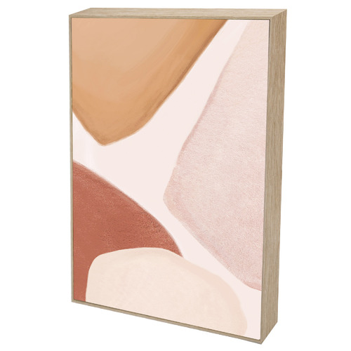 Iconiko Curvature I Framed Canvas Wall Art