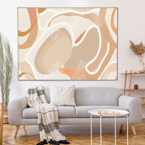 Iconiko Percival Abstract Framed Canvas Wall Art