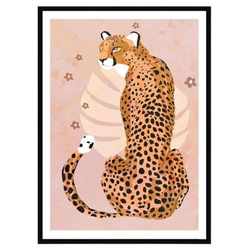 Iconiko Harvest Cheetah Framed Printed Wall Art