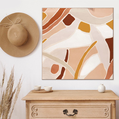 Optus Abstract Framed Canvas Wall Art